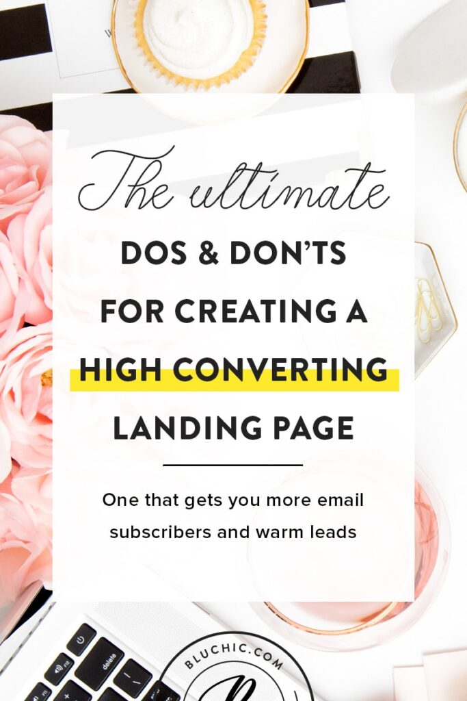 Create a high converting landing page